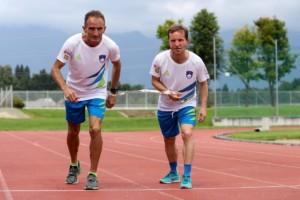 Sandi Novak and Roman Kejzar during Media day of the Sandi Novak, paralympic runner of Slovenia, on June 16, 2016 in Stadium Triglav, Kranj Slovenia. Photo by Matic Klansek Velej / Sportida