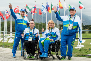 France Gorazd Tirsek - Nani, Franc Pinter - Anco, Veselka Pevec and Damjan Pavlin of Slovenia during the Rio 2016 Summer Paralympics Games on September 8, 2016 in Olympic Aquatics Stadium, Rio de Janeiro, Brazil. Photo by Vid Ponikvar / Sportida