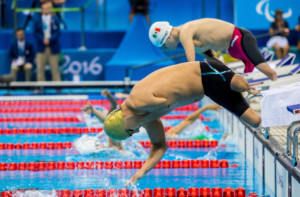 Darko Duric of Slovenia competes in the Swimming Men's 50m Freestyle - S4 Final during Day 10 of the Rio 2016 Summer Paralympics Games on September 17, 2016 in Olympic Aquatic Stadium, Rio de Janeiro, Brazil. Photo by Vid Ponikvar / Sportida