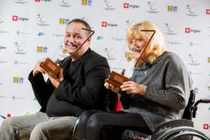 Francek Gorazd Tirsek - Nani and Veselka Pevec during Slovenian Disabled Sports personality of the year 2016 event, on December 15, 2016 in Austria Trend Hotel, Ljubljana, Slovenia. Photo by Vid Ponikvar / Sportida