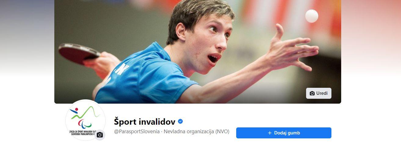 Facebook stran ParaSportSlovenia